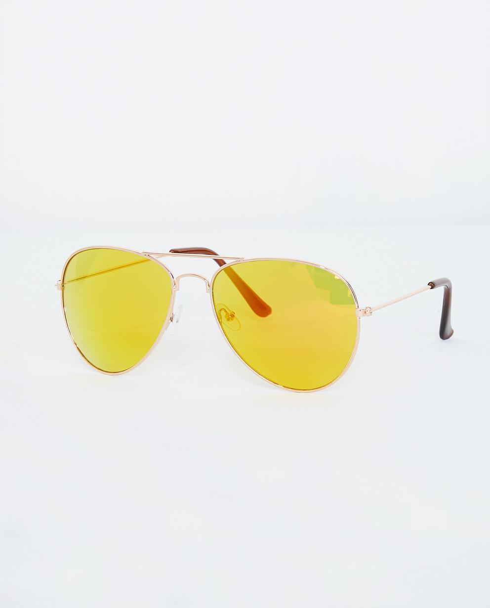 Lunettes aviateur avec des verres miroir jaunes JBC   JBC Belgique a6988a82c9db